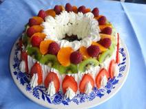 Baba maison aux fruits de saison